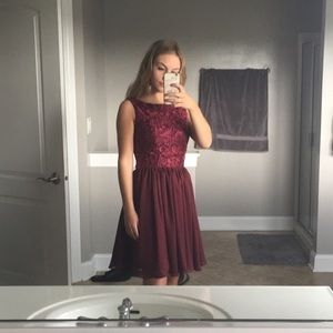 Dresses & Skirts - Deep red homecoming dress